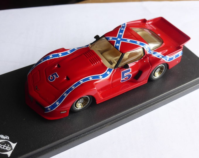 """Chevrolet Corvette Turbo Special Greenwood 1981 """"confederate livery"""" REMEMBER Models 1:43 - Factory built"""
