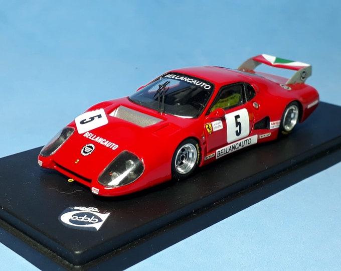 Ferrari 512BB IMSA-GTX Ch.35529 Bellancauto Mugello 6 hours 1982 #5 Violati/Truffo Remember factory built 1:43