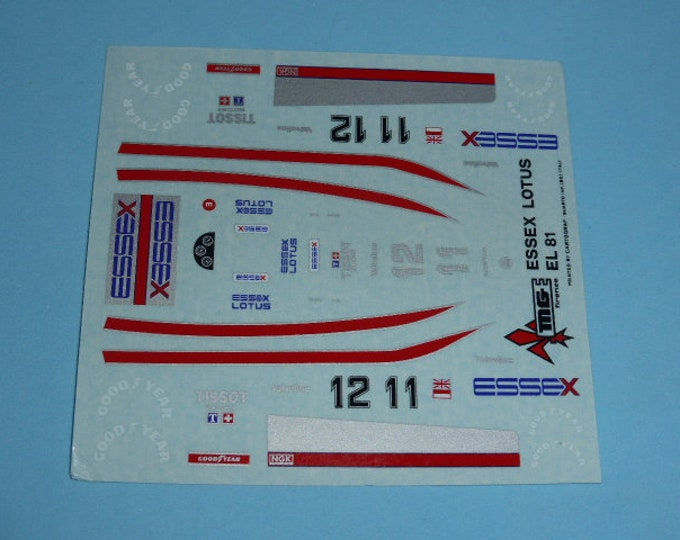 high quality 1:43 decals Lotus - Cosworth 81 F.1 Essex 1980 Elio De Angelis and Mario Andretti Cartograf TK236