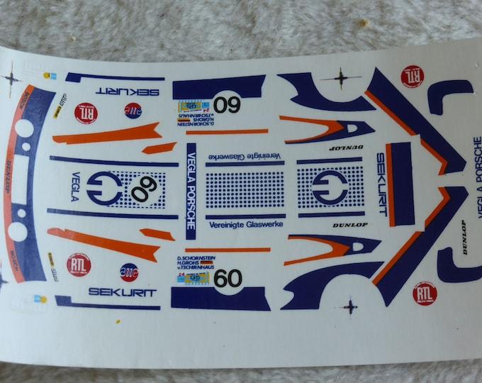 1:43 decals for Porsche 935/2 Gr.5 Vegla Le Mans 1982 #60 Schornstein/Grohs/von Tschirnhaus Record