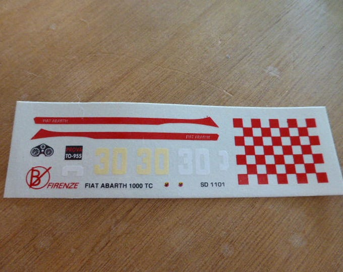 high quality 1:43 decals Fiat Abarth 1000TC 4h Monza 1966 #30 Carrara Models