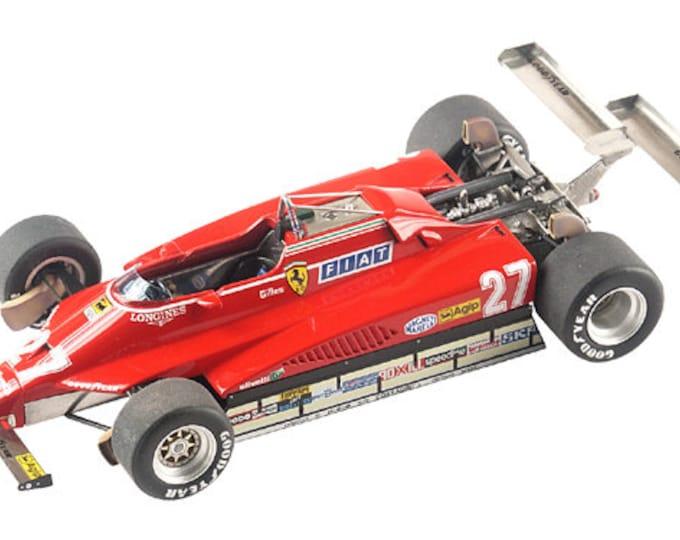 Ferrari 126 C2 F.1 GP Usa West 1982 Villeneuve or Pironi TAMEO Kits TMK320 1:43