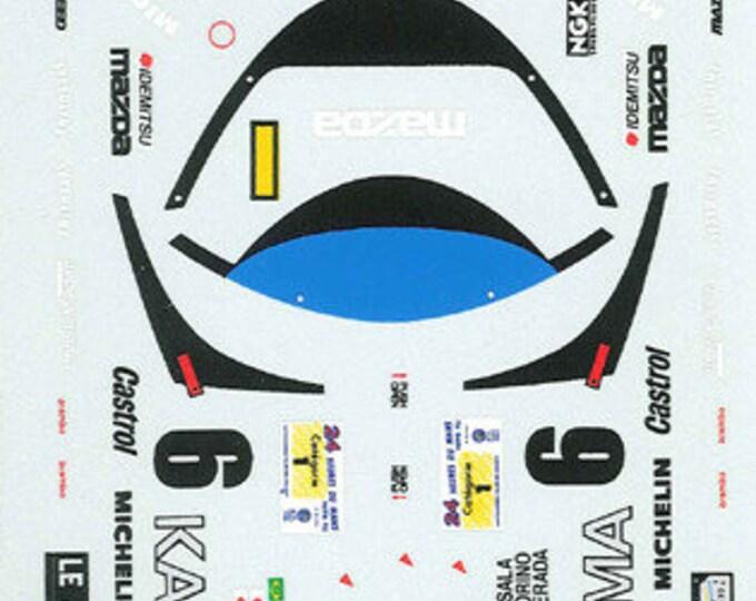 high quality 1:24 decals sheet Mazda MX-R01 Gr.C Le Mans 1992 #6 Le Mans Miniatures DCA124006