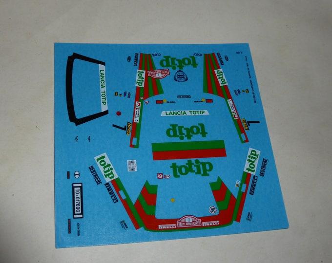 high quality 1:43 decals Lancia Delta Integrale Gr.A Jolly Club-Totip Rally Montecarlo 1988 Fiorio CARTOGRAF printing