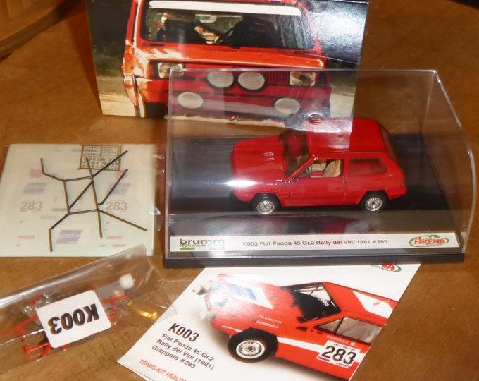 Fiat Panda 45 Group 2 Rally dei Vini 1981 #283 Brumm-Arena special model K003 1:43