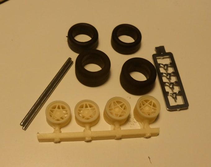 5-spokes wheels set for David Piper Ferrari racing cars 250LM, 330 P3/P4, Porsche 917K etc. 1:43 Remember W62