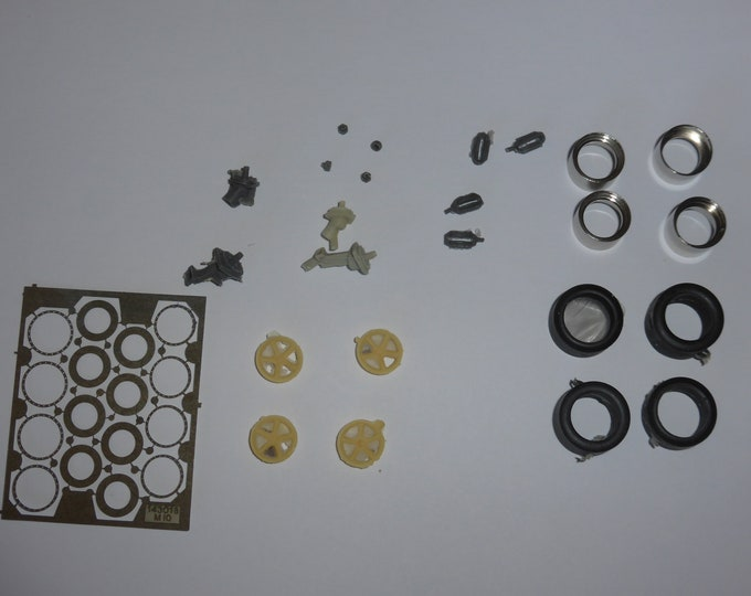 high definition 5-spokes wheels set for Ferrari 333 SP and other sportscars Le Mans Miniatures 1:43 ACW143004