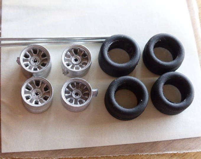 white metal  wheels for Fiat Abarth X1-9, Gr.5 cars and so on Carrara Models SP24/25 1:43