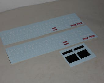 high quality 1:18 decals pack for Italian registration numbers Remember TK207