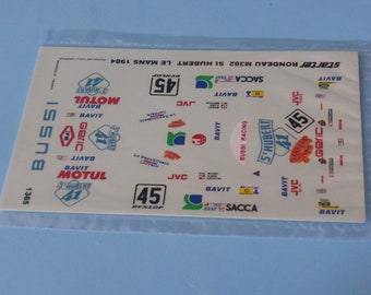 1:43 decals for Rondeau M382 Gr.C StHubert41 Le Mans 1984 #45 Bussi/Ilien/Griffin