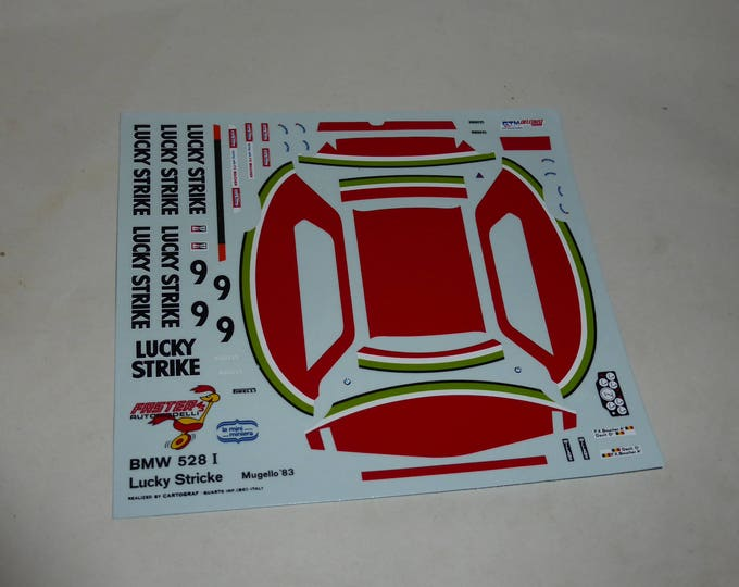 high quality 1:43 decals BMW 528i Lucky Strike ETCC 1983 Mugello 'Davit'/Boucher CARTOGRAF printing
