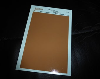high quality 1:43 decal sheet mm95x140 LIGHT BROWN Tin Wizard CO44