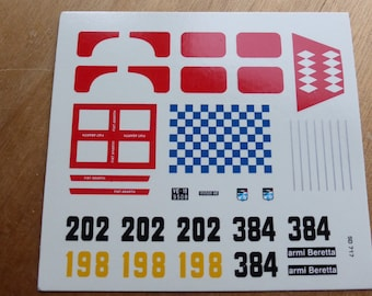 high quality 1:43 decals Fiat Abarth 1000TCR Trento-Bondone 1970-1971 / Bolzano-Mendola 1972 Remember