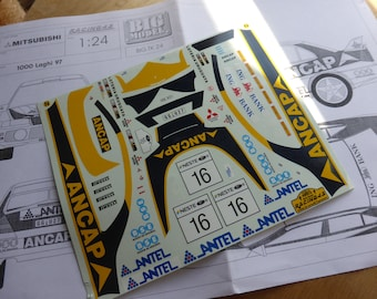 high quality 1:24 decals sheet for Mitsubishi Lancer Evo4 Gr.N Ancap 1000 Lakes Rally 1997 Trelles Racing43 BIG-TK24