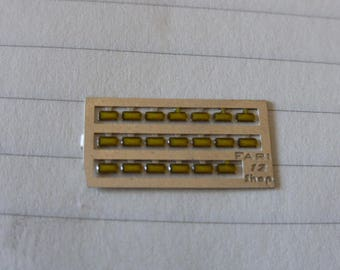 high quality photoetched+resin lights rectangular yellow mm 1.0x2.0 FLR12 for model cars and other models
