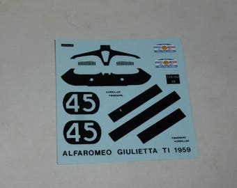 high quality 1:43 decals Alfa Romeo Giulietta Ti Tour de France Auto 1959 #45 Oreiller/Masoero