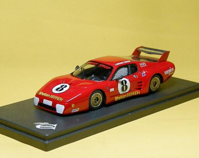 Ferrari 512BB-LM IMSA Shelton 12h Sebring 1983 #8 McComb/Mancuso/Fiala REMEMBER Models 1:43 - Factory built