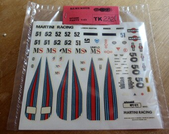 high quality 1:43 decals Lancia Group 6 Martini Racing 1982 season (Le Mans, Spa, Nurburgring, Mugello etc) TK232
