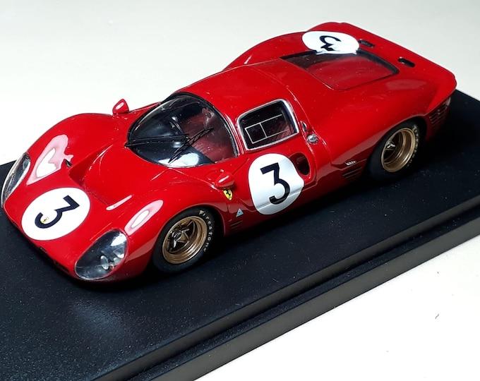 Ferrari 330 P4 ch.0856 1000km Monza 1967 #3 winner Bandini/Amon REMEMBER Models 1:43 Factory built