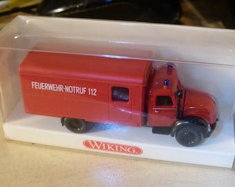 Magirus Feuerwehr Koffer-LKW Wiking 8611134 1:87 H0
