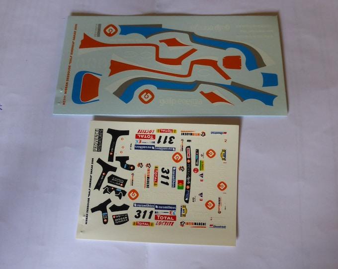 1:43 decals for Nissan Dessoude Galp Energia Dakar 2006 #311 Provence Miniatures