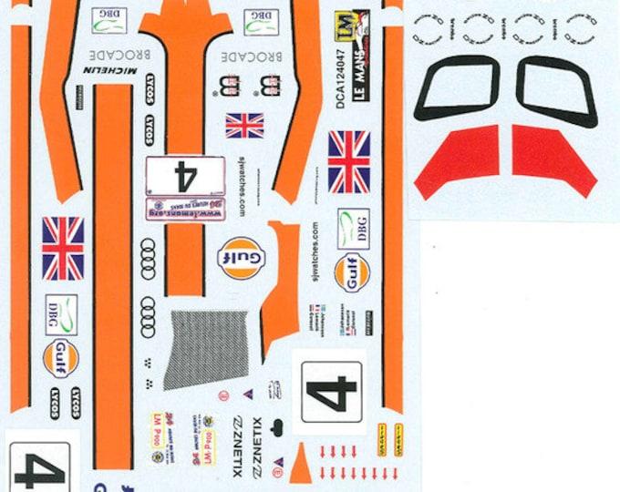 high quality 1:24 decals sheet Audi R8 Gulf Le Mans 2002 #4 Le Mans Miniatures DCA124047