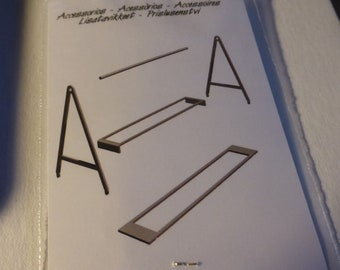 photo etched 1:43 trestle stands for bodyworks (pack for 2 trestles) This Way Up by Tameo TWU-A010