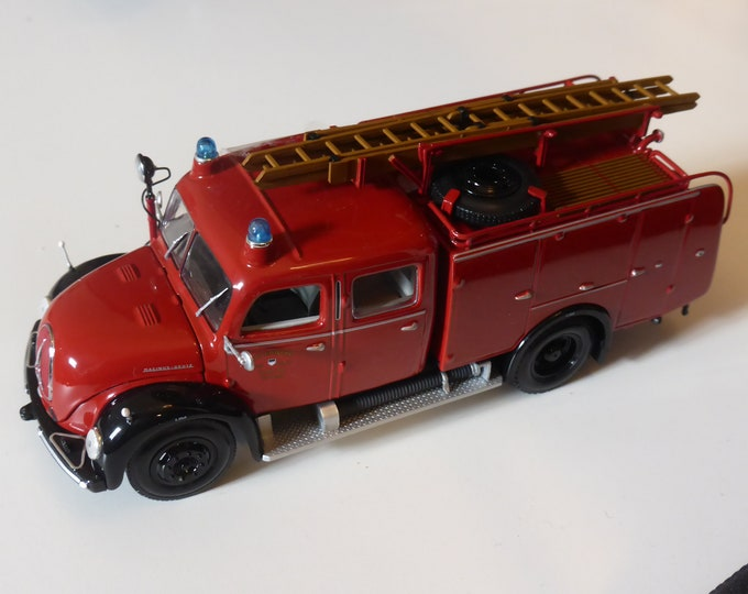 Magirus Deutz Merkur TLF16 Feuerwehr Ulm Fire engine 1959 Minichamps 1:43 439141070 new in box