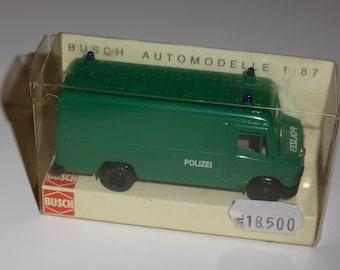Mercedes Benz 507 Kastenwagen Polizei Busch 44309 1:87 H0