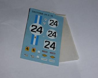 1:43 decals sheet for Ferrari 312 P Coupé NART Daytona 24h 1970 #24 Tameo TMK84
