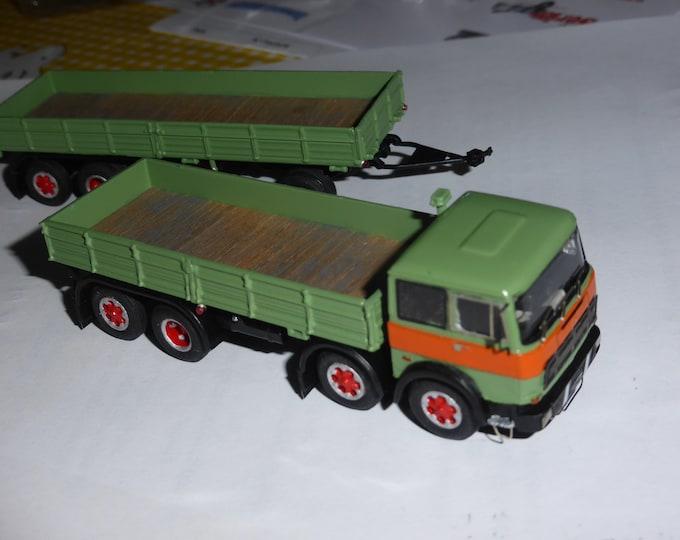 Fiat 180 four axles and 4 axles trailer Handbuilt model by Nonomologati on Brekina base 1:87 H0