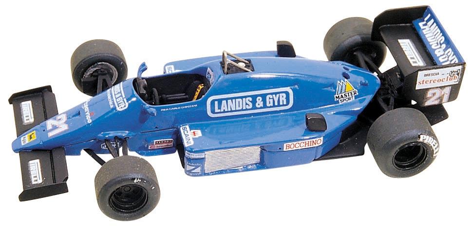 Osella FA1F Alfa Romeo 1984 Piercarlo Ghinzani Fórmula 1 Auto C #185 1:43 Moc