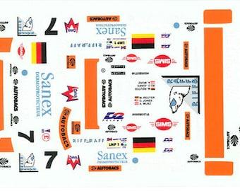 high quality 1:24 decals sheet TWR Porsche WSC Le Mans 1996 #7 winner Le Mans Miniatures DCA124013