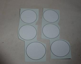racing number 1:18 white roundels with black frame (mm 28.0) 01DE18