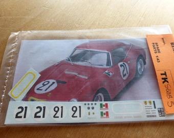 high quality 1:43 decals Ferrari 250 GT SWB Le Mans 1960 #21 Madyero by Remember TK-SWB5
