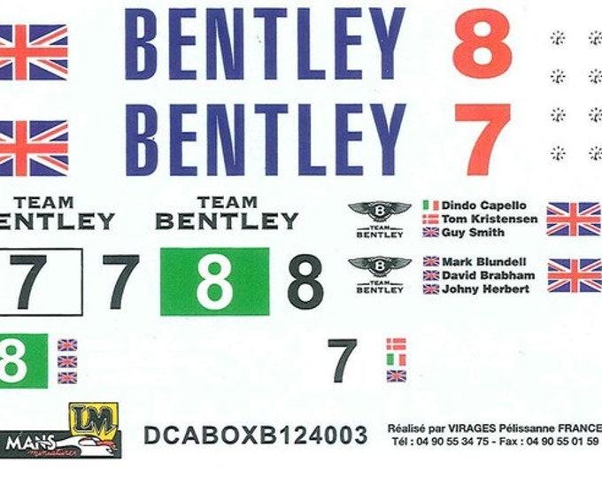high quality 1:24 decals sheet for Bentley team (boxes, trucks...) Le Mans 2003 etc. Le Mans Miniatures DCABOXB124003