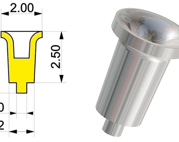 1:43 machined aluminium inlet trumpets type-B (12 pieces) Tameo PG05