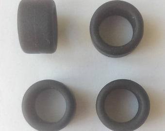 Set of 4 tires, slick - Model car accessories - Scale model tires - 1 43 tires - 7,8x13x9mm - #4371