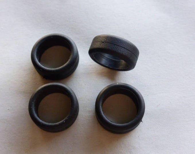 Set of 4 tires, slick - Model car accessories - Scale model tires - 1:43 mm 6.4x15.5x11.4 #4398
