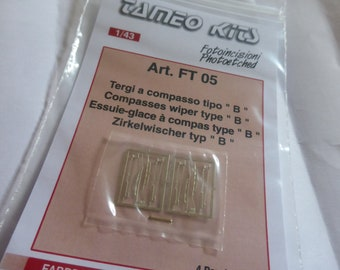 photo etched 1:43 compass windscreen wipers Type-B for Group C-IMSA cars etc (4 pieces) Tameo FT05