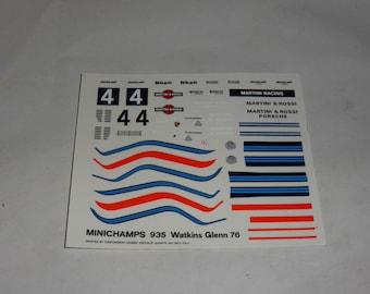 high quality 1:43 decals Porsche 935 Gr.5 Martini & Rossi 6h Watkins Glen 1976 CARTOGRAF printing