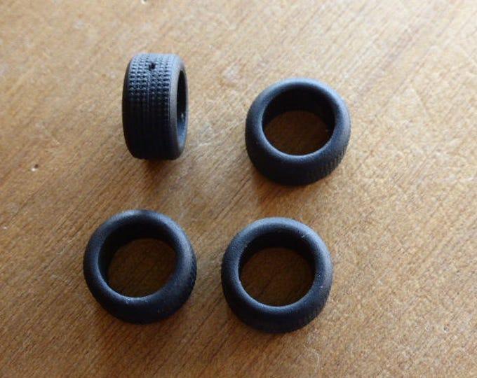 Set of 4 tires, slick - Model car accessories - Scale model tires - 1:43 mm 10.3x14.8x8.1 #4321