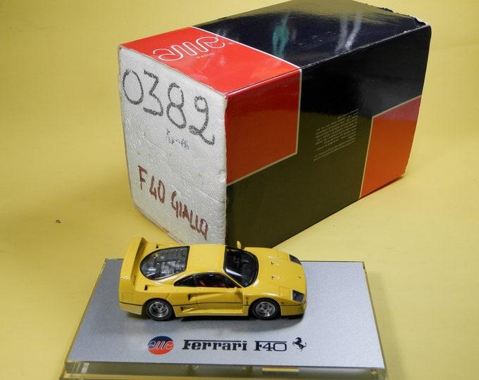 Ferrari F40 1987 yellow 1:43 AMR factory built serial n.0382
