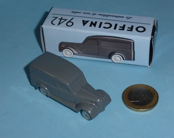Fiat 1100 BLR Van 1948 in medium grey Officina942 new vintage small diecast model in 1:76 (00) scale new in box #1002A