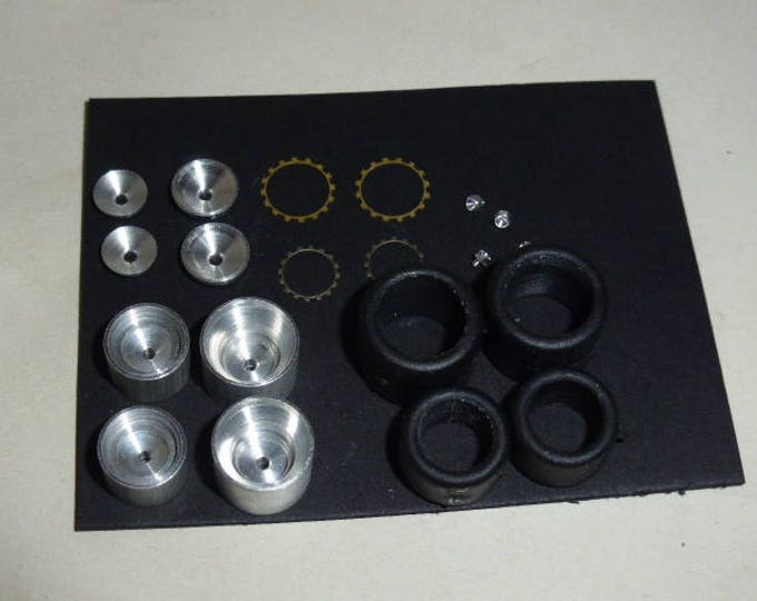 turned and photoetched BBS wheels set for Group 5 and Group 6 racing cars (Porsche 935/936 etc.) Remember W33 1:43