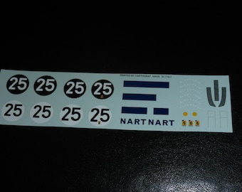 high quality 1:43 decals Ferrari 412P (330 P3/P4) NART Le Mans 1967 #25 (practice and race numbers) Remember printed by Cartograf TK283
