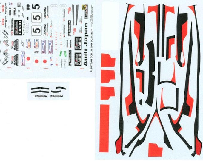 high quality 1:24 decals sheet Audi R8 Team Goh Le Mans 2004 #5 Le Mans Miniatures DCA124077