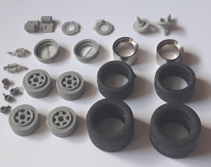 1:24 5-spokes Gotti wheels, disc brakes and tires for racing cars of the 70-80s Le Mans Miniatures ACW124012