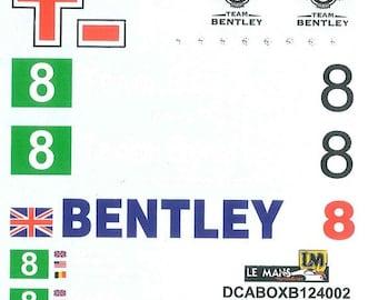 high quality 1:24 decals sheet for Bentley team (boxes, trucks...) Le Mans 2002 etc. Le Mans Miniatures DCABOXB124002