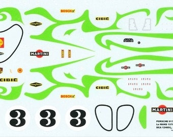 high quality 1:24 decals sheet Porsche 917LH Martini Le Mans 1970 Larrousse/Kauhsen Le Mans Miniatures DCA124056